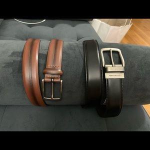 Bundle New  Perry Ellis men's belts size 32